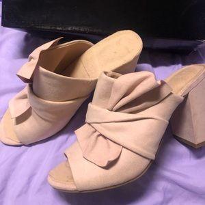 Christian Siriano blush heels